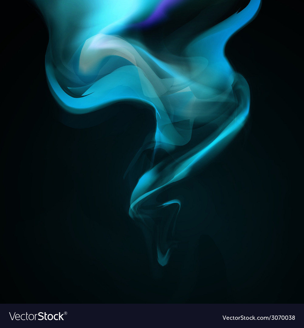 Blue smoke background vector | Price: 1 Credit (USD $1)