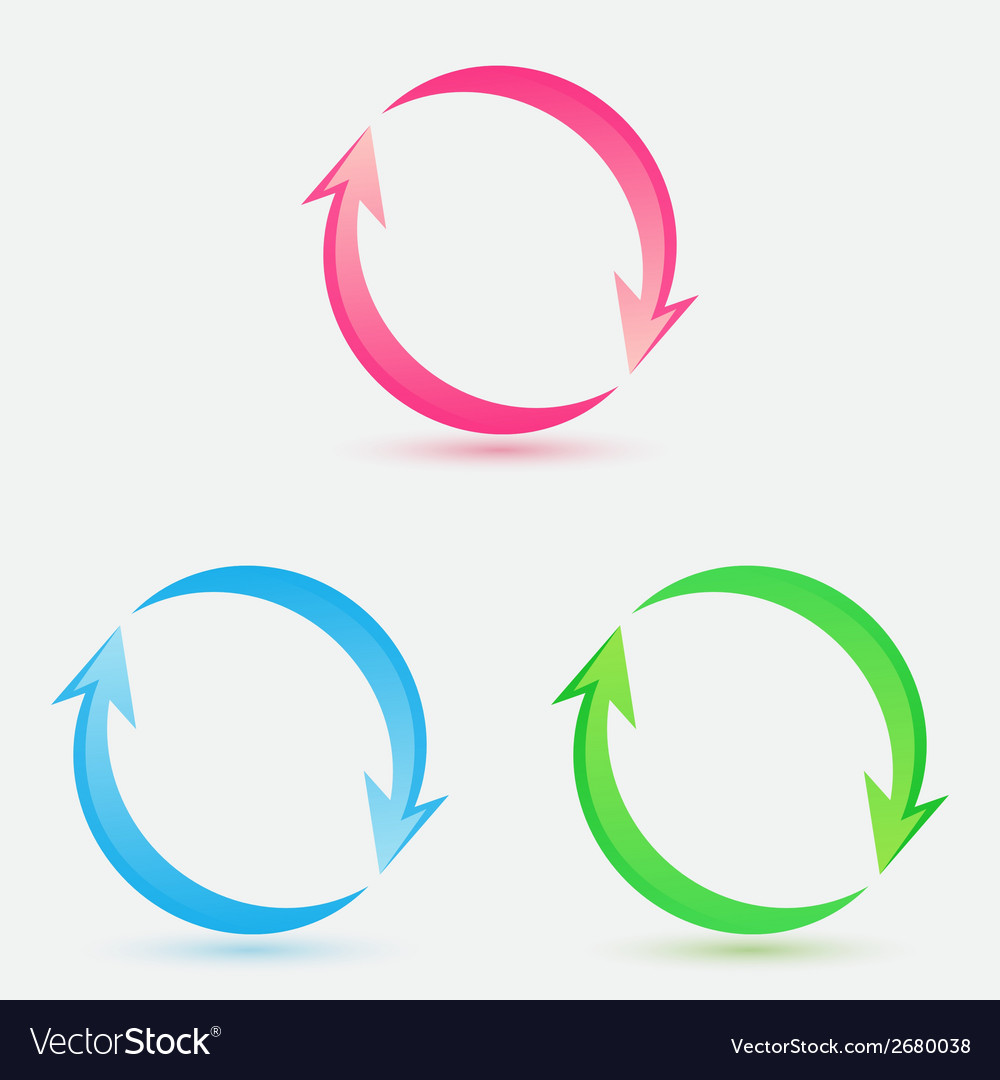 Bright arrow icons vector | Price: 1 Credit (USD $1)