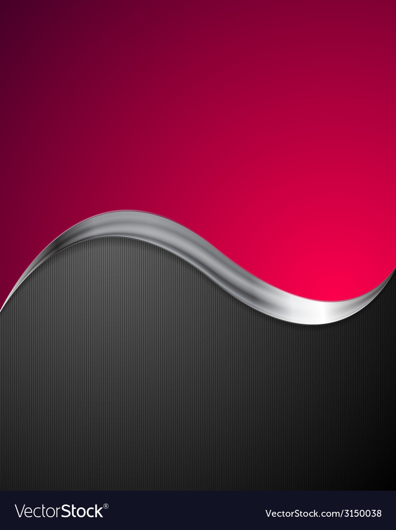 Crimson abstract background with metal wave vector | Price: 1 Credit (USD $1)