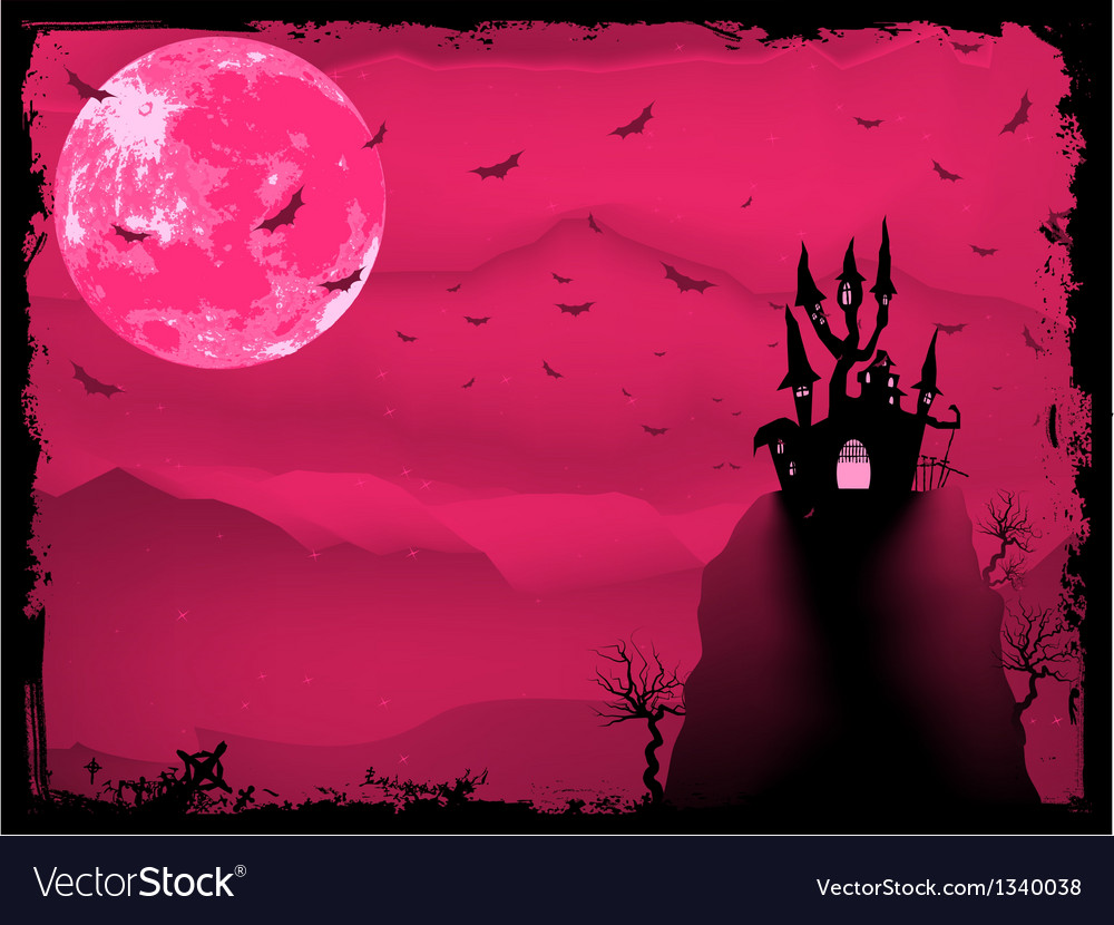 Halloween composition with horror house eps 8 vector | Price: 1 Credit (USD $1)