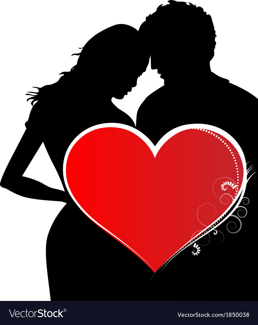 Lovers in valentines day vector | Price: 1 Credit (USD $1)