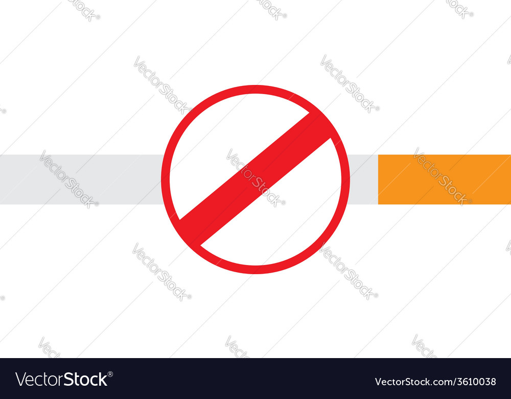 No smoking sign on a cigarette vector | Price: 1 Credit (USD $1)