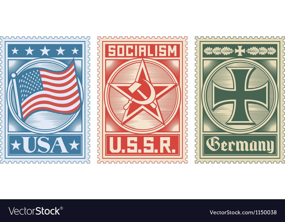 Postage stamps collection vector | Price: 1 Credit (USD $1)