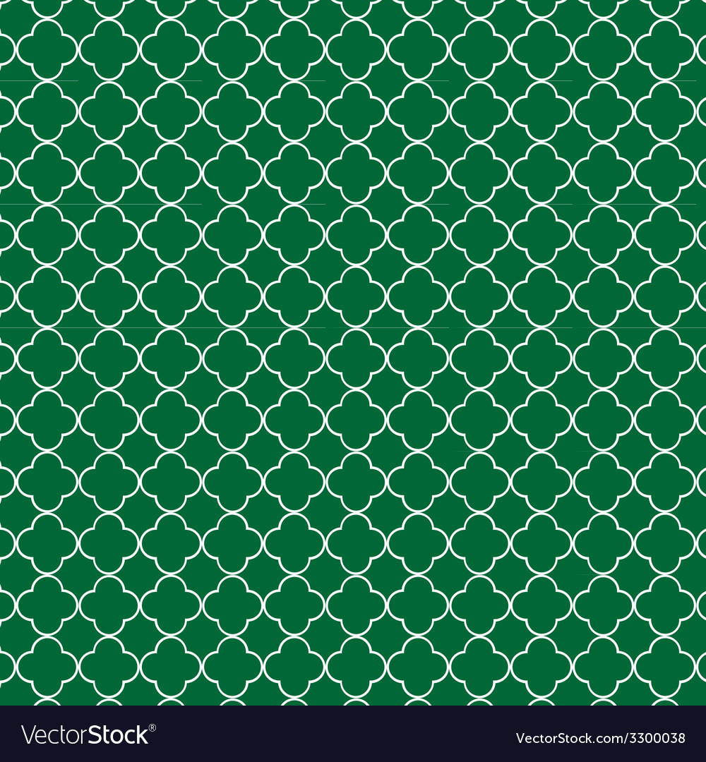 Quatrefoil green vector | Price: 1 Credit (USD $1)