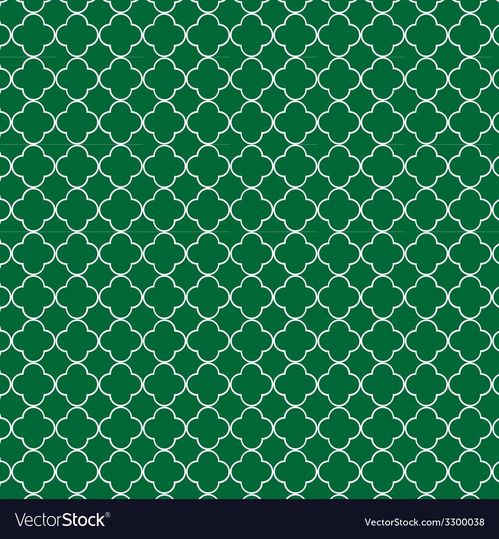 Quatrefoil green vector | Price: 1 Credit (USD $1)