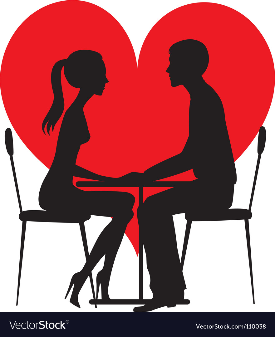Silhouette of lovers vector | Price: 1 Credit (USD $1)