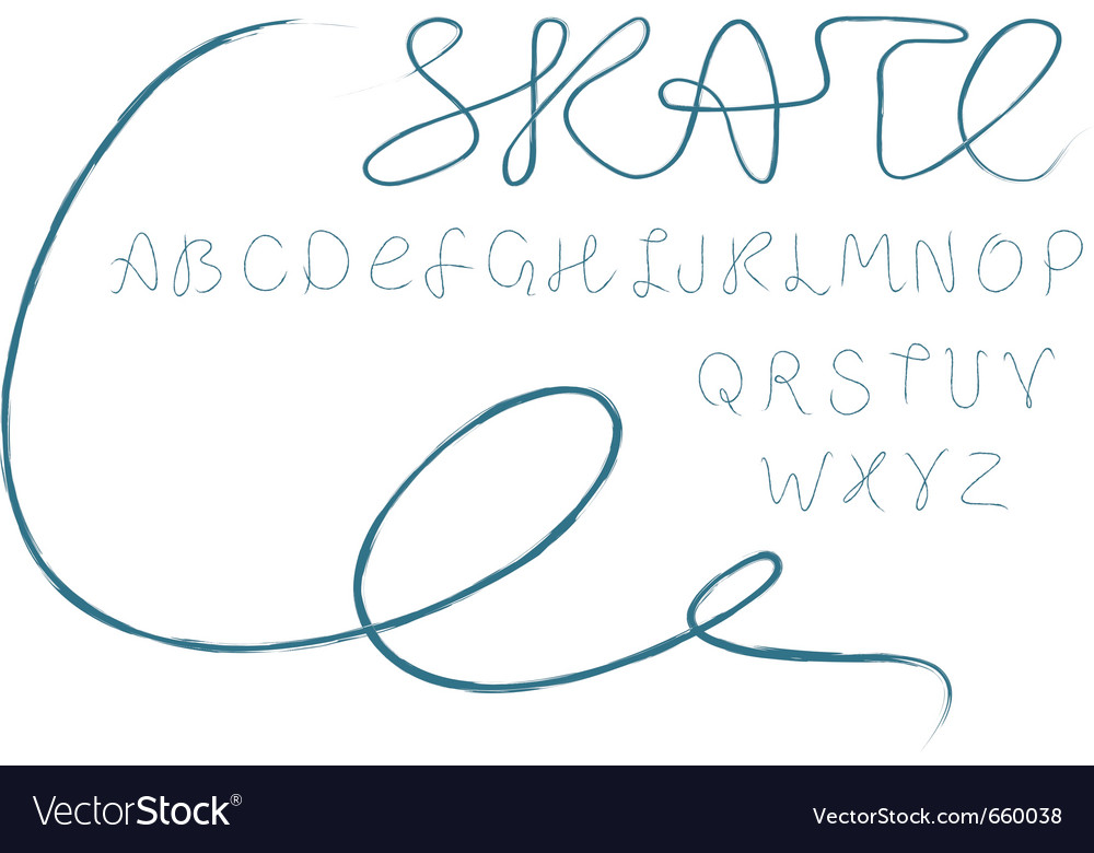 Skate alphabet vector | Price: 1 Credit (USD $1)
