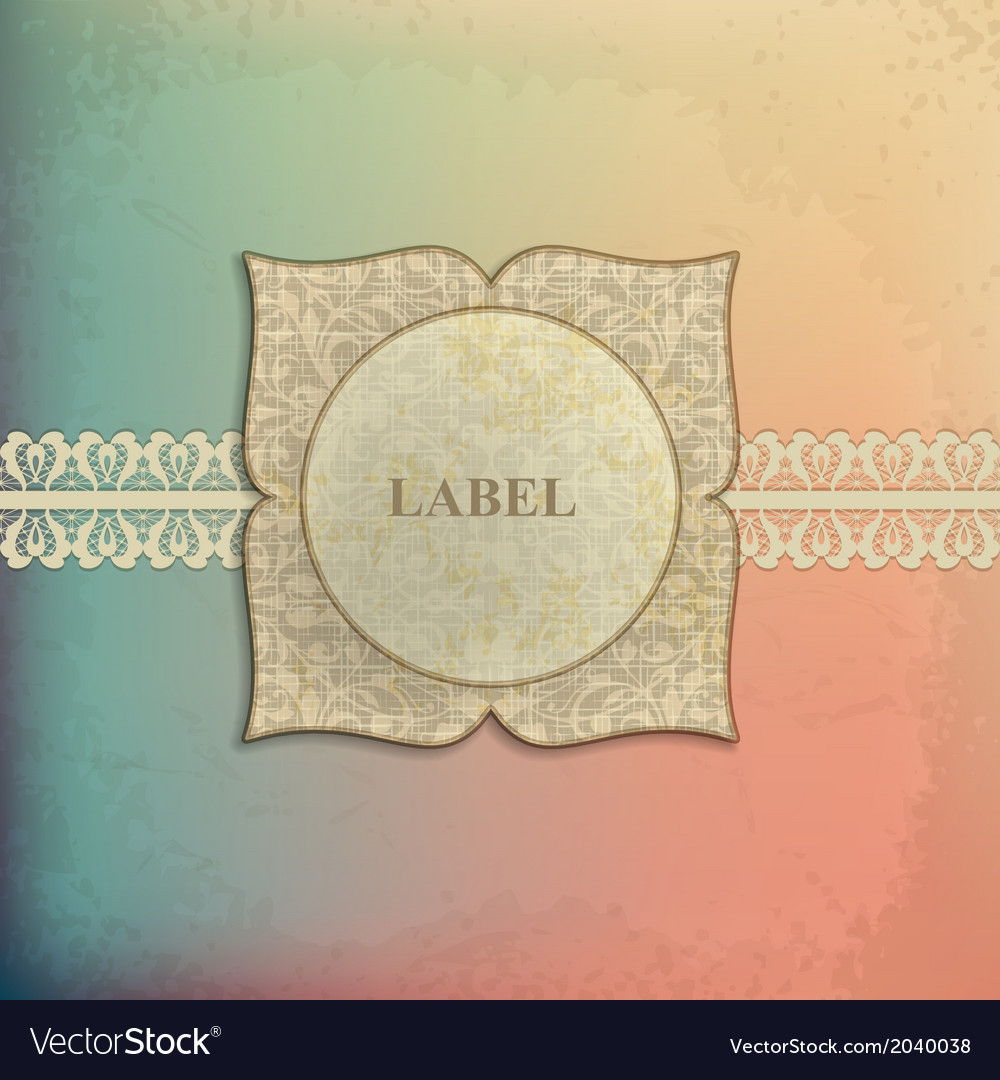 Vintage frame template 4 vector | Price: 1 Credit (USD $1)