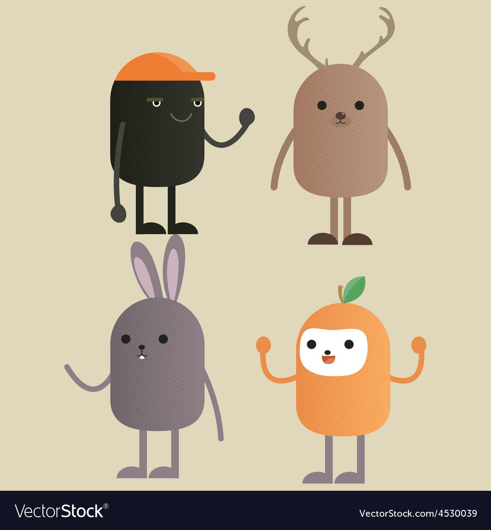 Character monster gang vector | Price: 1 Credit (USD $1)