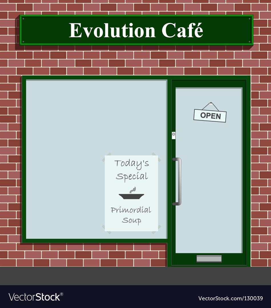 Evolution cafe vector | Price: 1 Credit (USD $1)