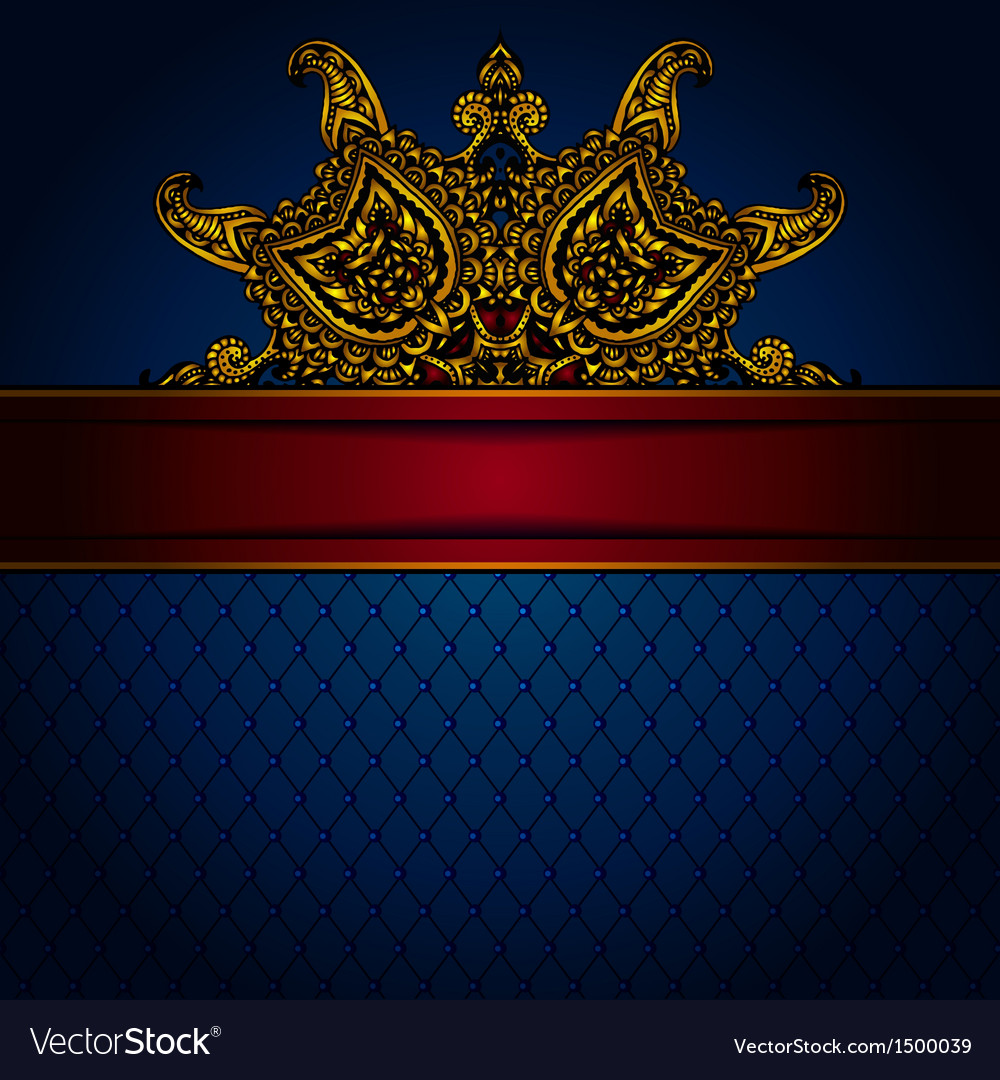 Gold luxury frame vector | Price: 1 Credit (USD $1)