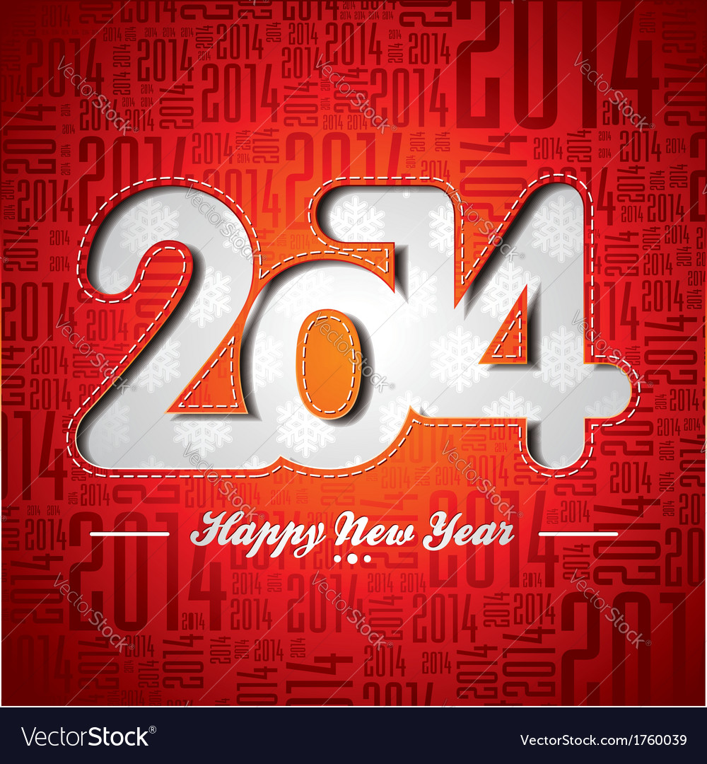 Happy new year 2014 celebration design vector | Price: 1 Credit (USD $1)
