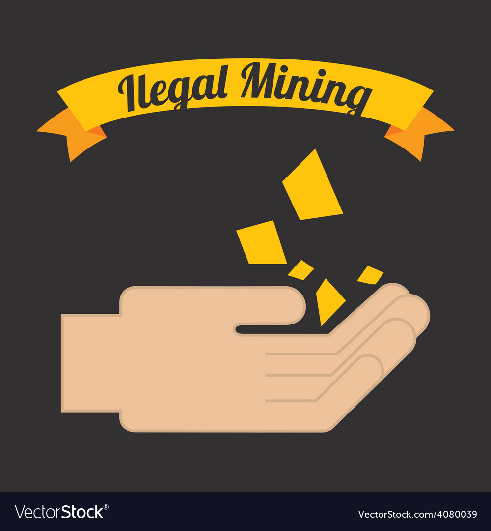 Ilegal mining vector | Price: 1 Credit (USD $1)