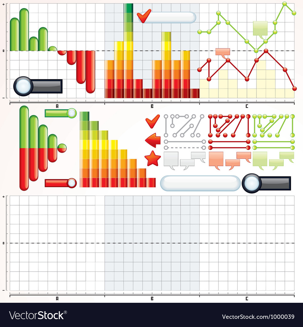 Infographic charts graphs templates vector | Price: 1 Credit (USD $1)