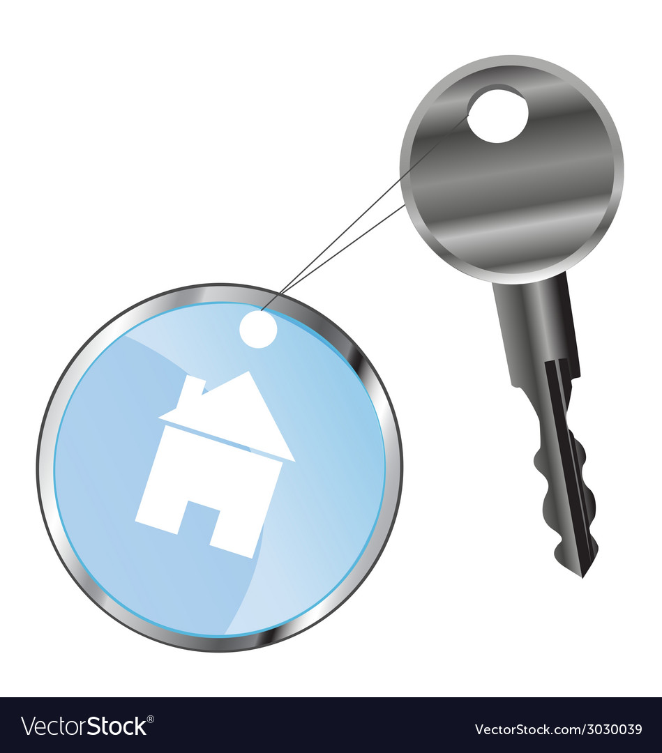 Metal key and house vector | Price: 1 Credit (USD $1)