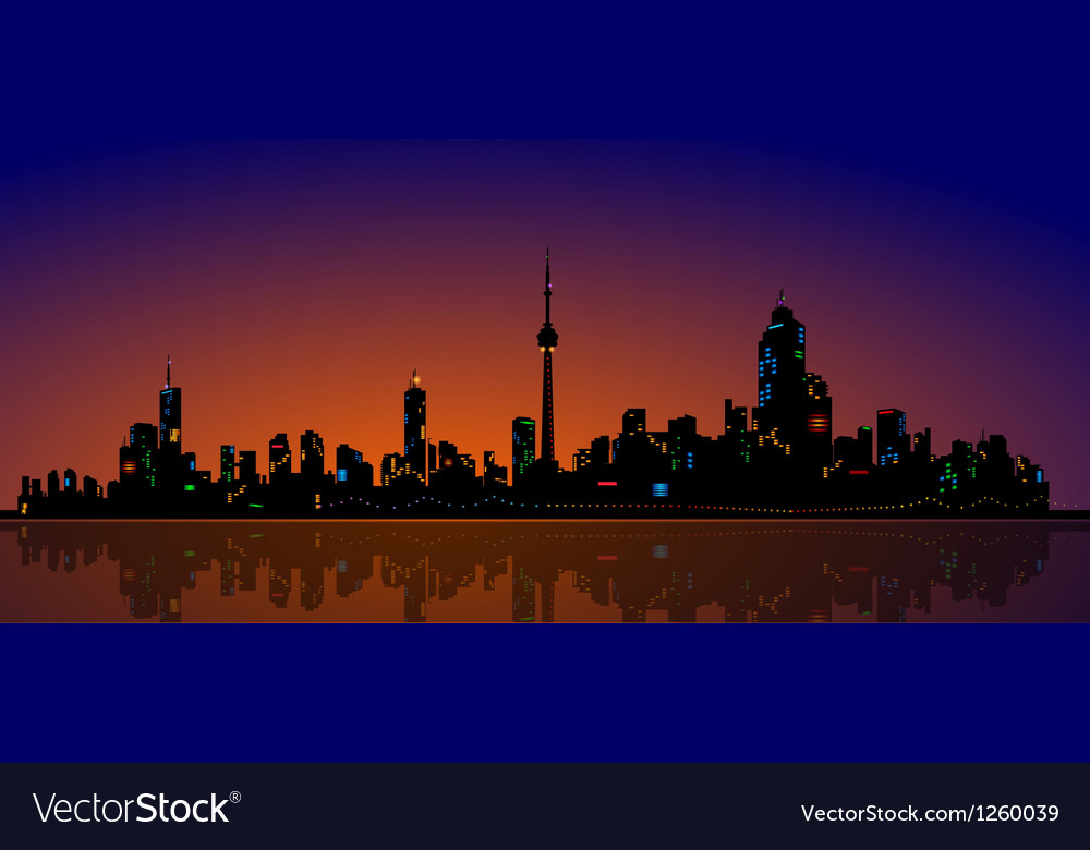North american metropolis skyline urban city view vector | Price: 1 Credit (USD $1)