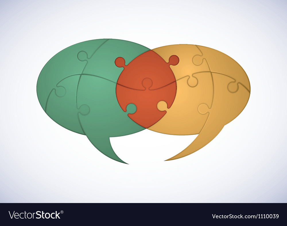 Puzzle dialogue balloons vector   Price: 1 Credit (USD $1)
