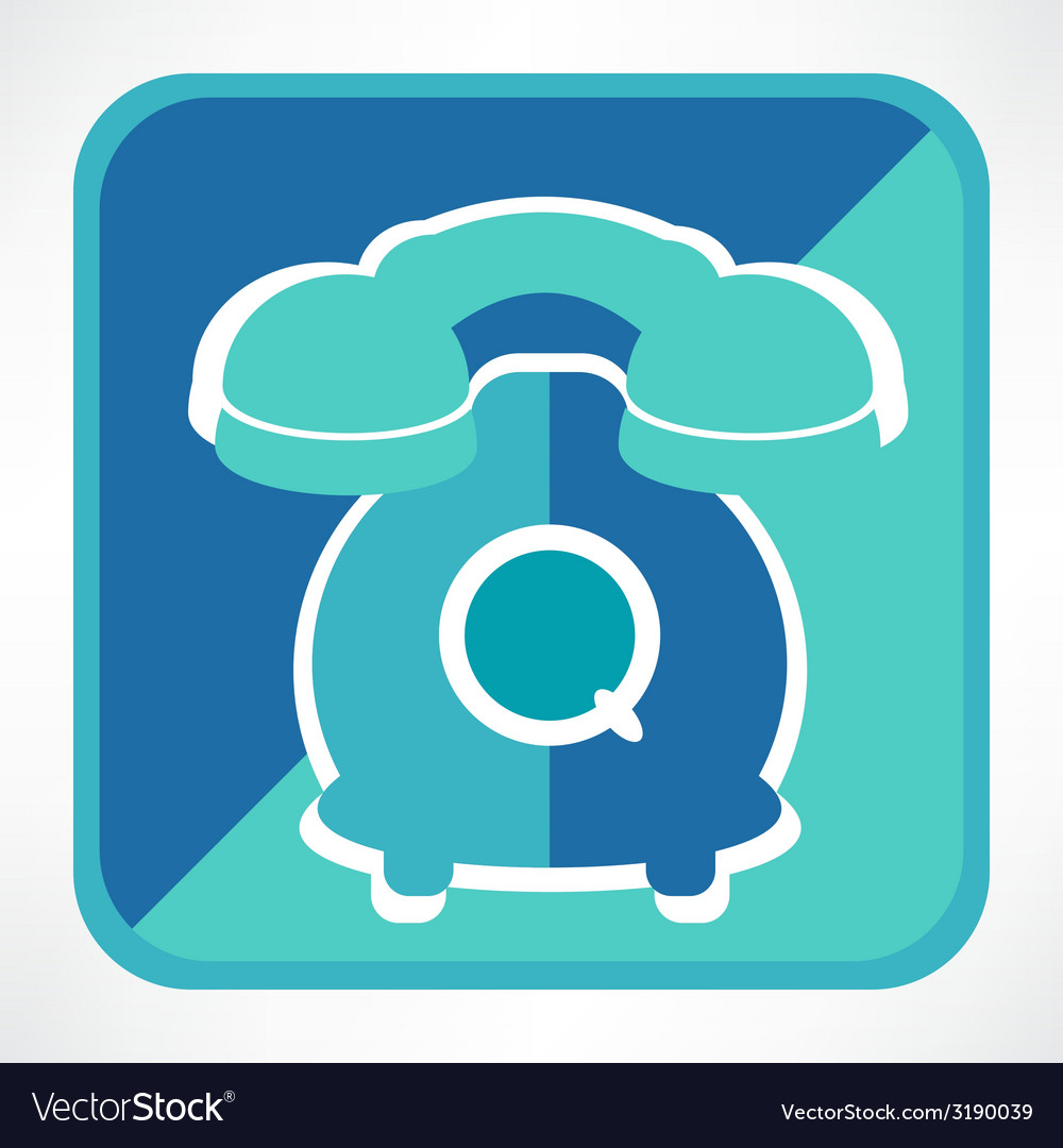 Retro telephone web icon vector | Price: 1 Credit (USD $1)