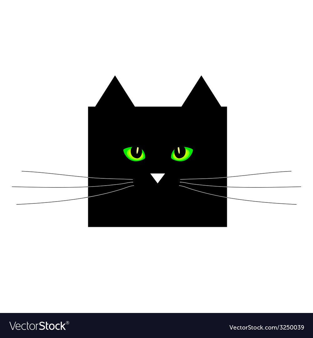 Sweet and cute black cat vector | Price: 1 Credit (USD $1)