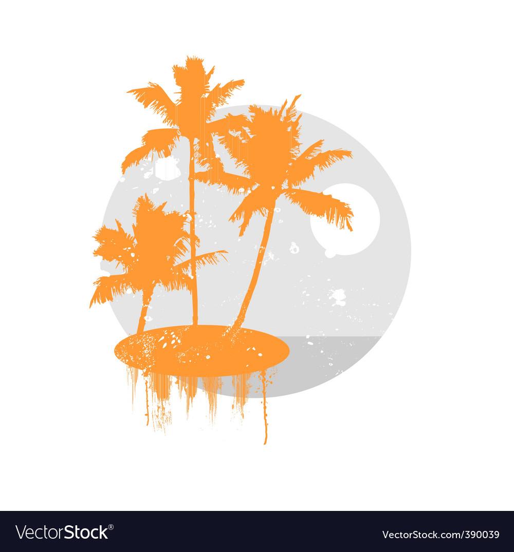 Tropical landscape vector   Price: 1 Credit (USD $1)