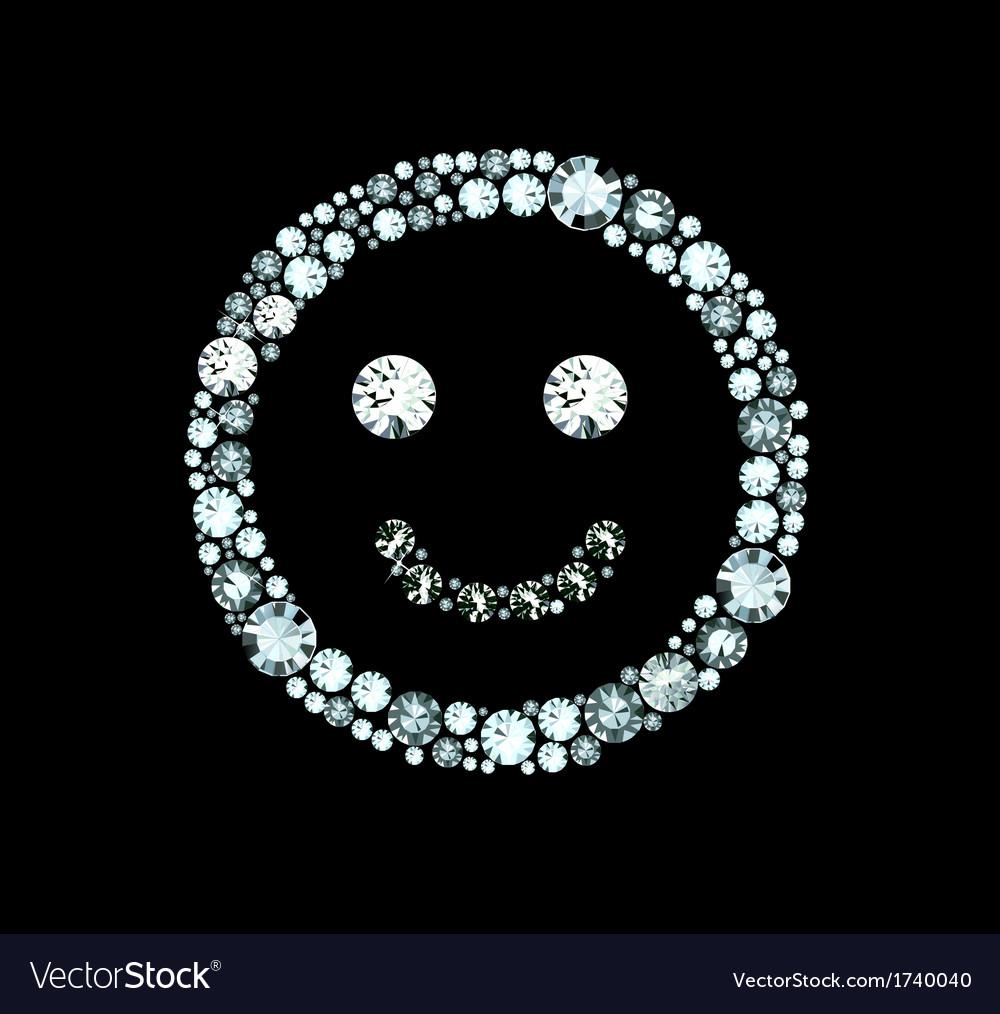 Diamond smile vector | Price: 1 Credit (USD $1)