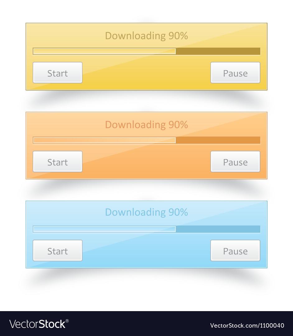 Download progress bar vector | Price: 1 Credit (USD $1)