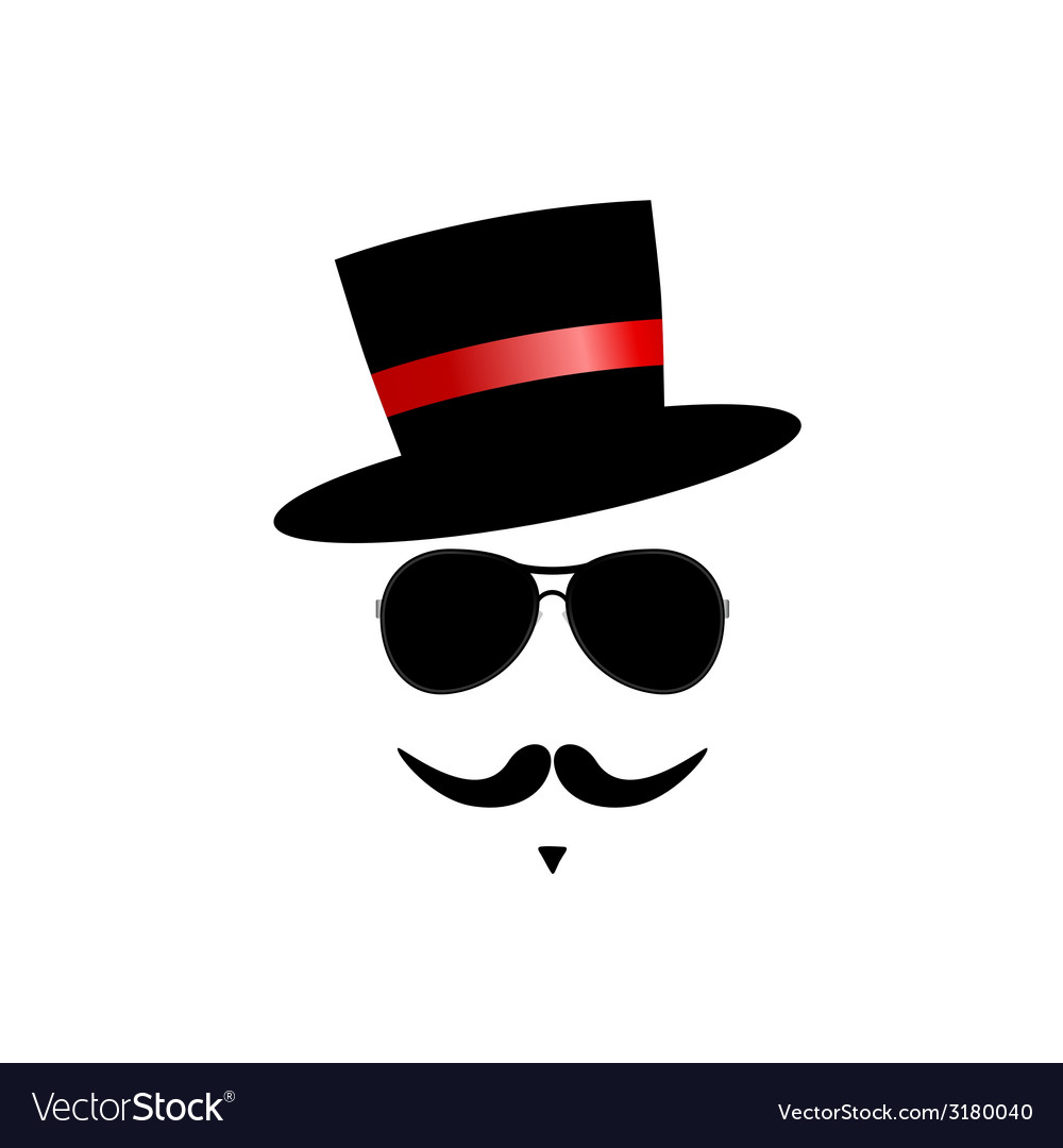 Face with mustache color vector | Price: 1 Credit (USD $1)