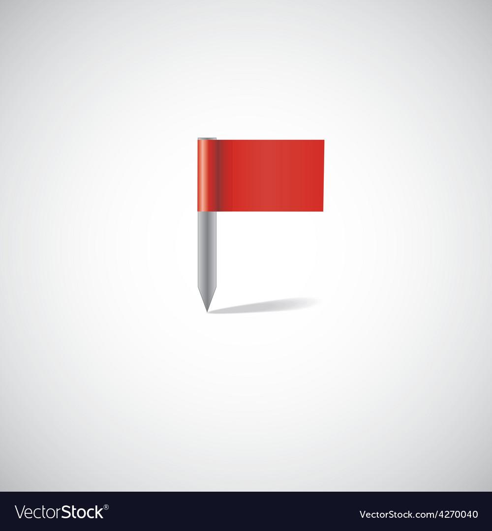Flag pin vector | Price: 1 Credit (USD $1)
