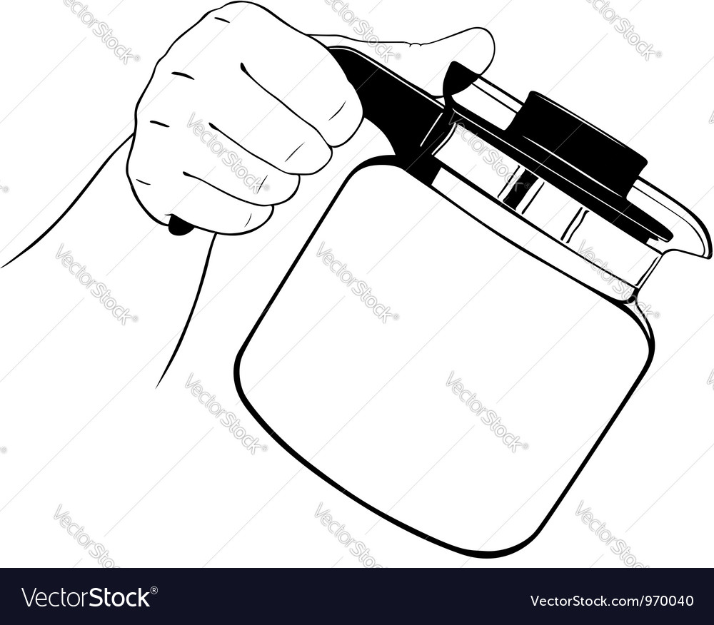 Hand with teapot vector