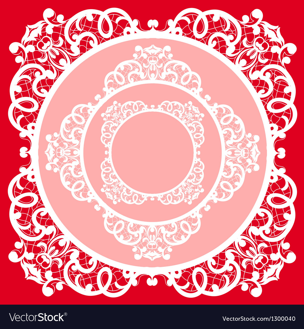 Lace napkin vector | Price: 1 Credit (USD $1)