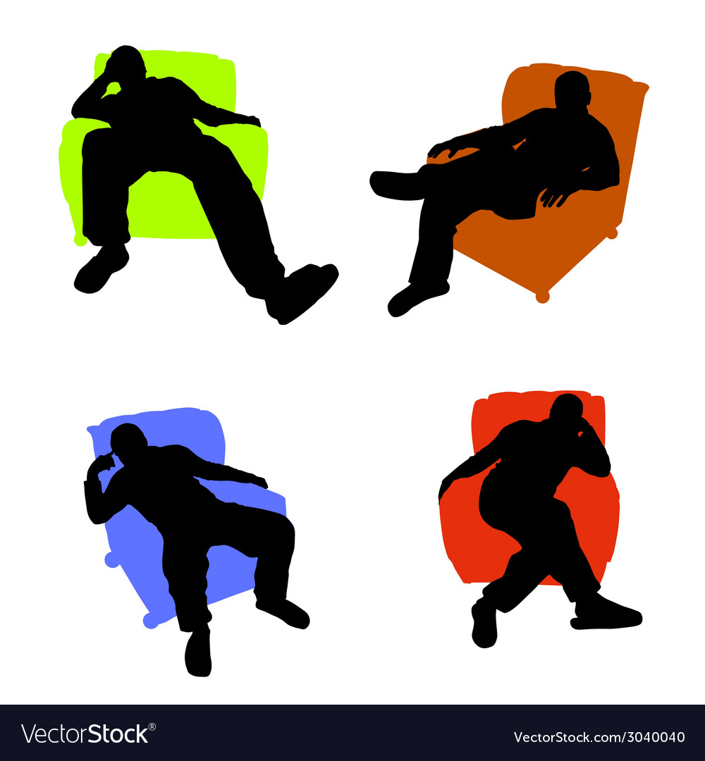 Man sitting in an armchair vector | Price: 1 Credit (USD $1)