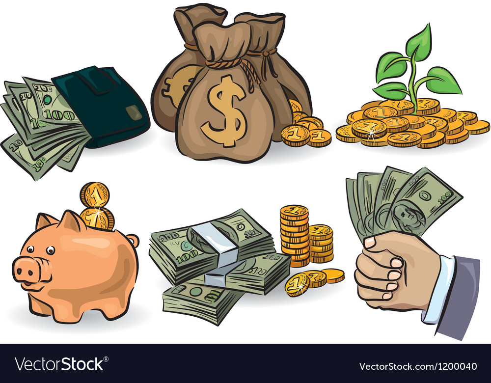 Money set vector | Price: 1 Credit (USD $1)