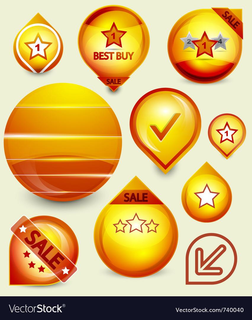 Orange sale tags vector | Price: 1 Credit (USD $1)