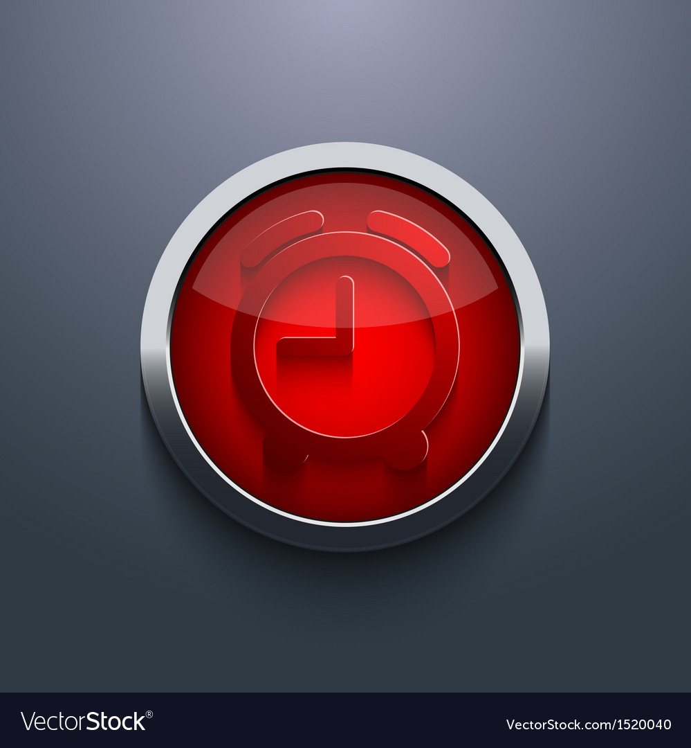 Red circle button eps10 vector | Price: 1 Credit (USD $1)