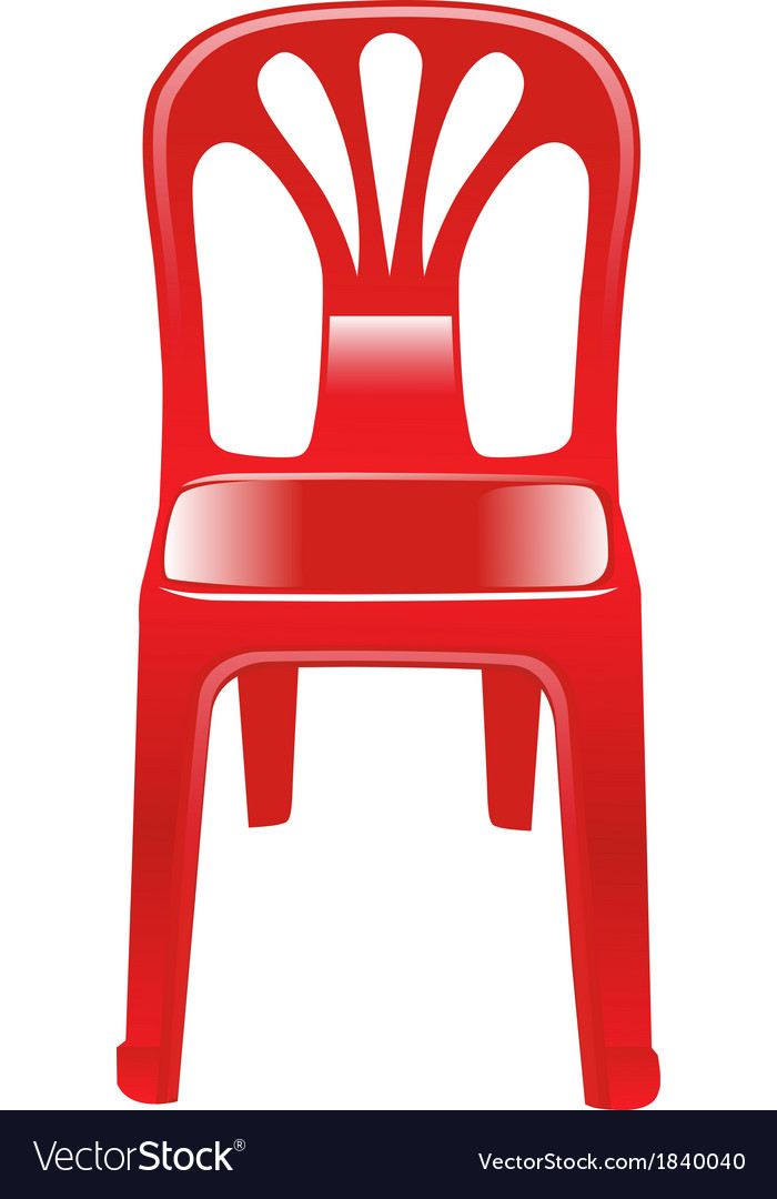 Shiny red chair vector | Price: 1 Credit (USD $1)