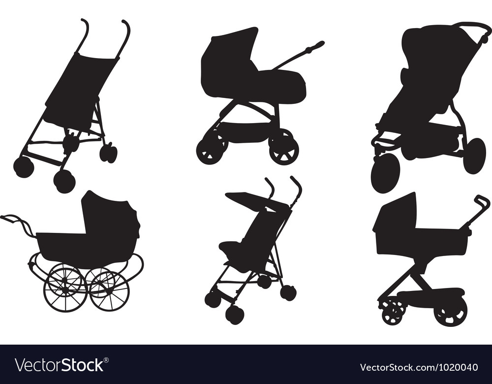 Stroller set vector | Price: 1 Credit (USD $1)