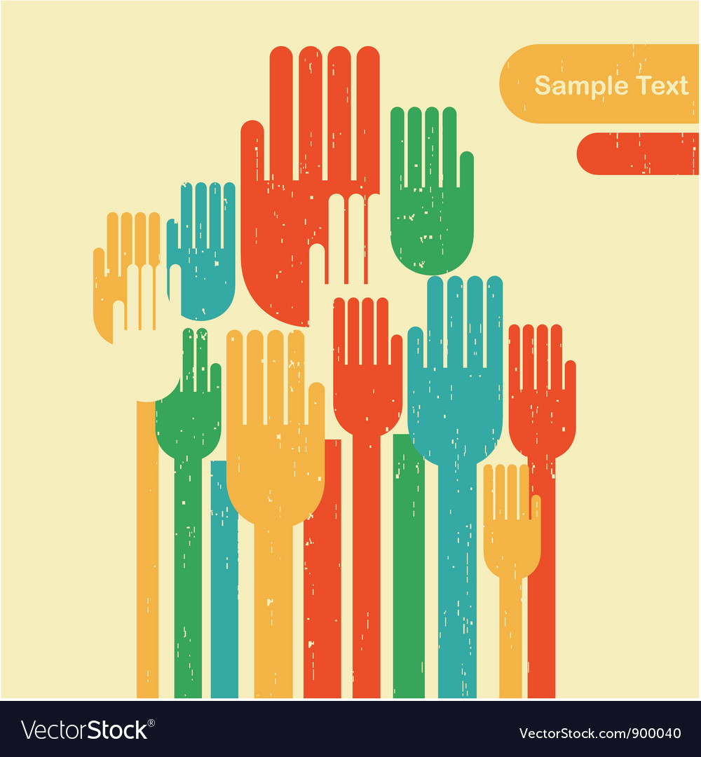 Voting hands vector | Price: 1 Credit (USD $1)