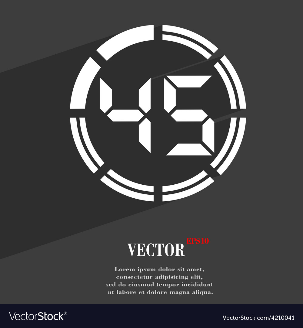 45 second stopwatch icon symbol flat modern web vector | Price: 1 Credit (USD $1)
