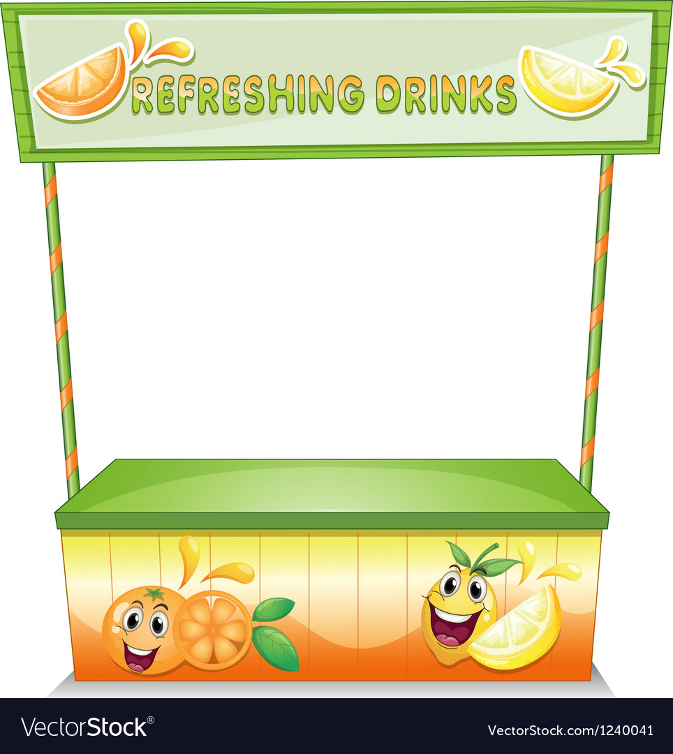 A stall for refreshing drinks vector | Price: 1 Credit (USD $1)