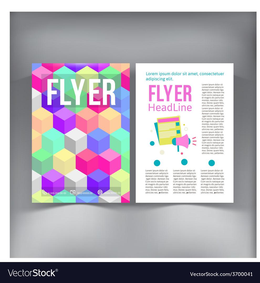 Abstract brochure flyer design template vector | Price: 1 Credit (USD $1)