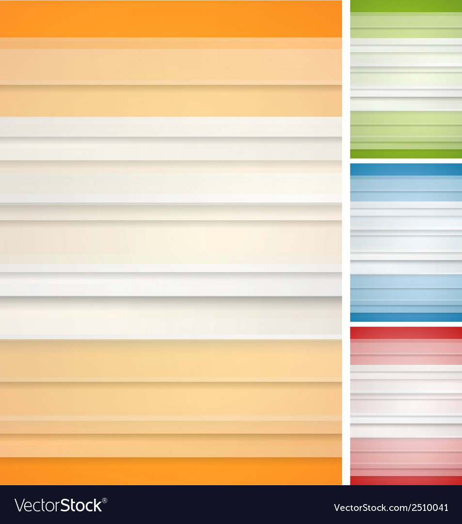 Abstract striped backgrounds set vector | Price: 1 Credit (USD $1)
