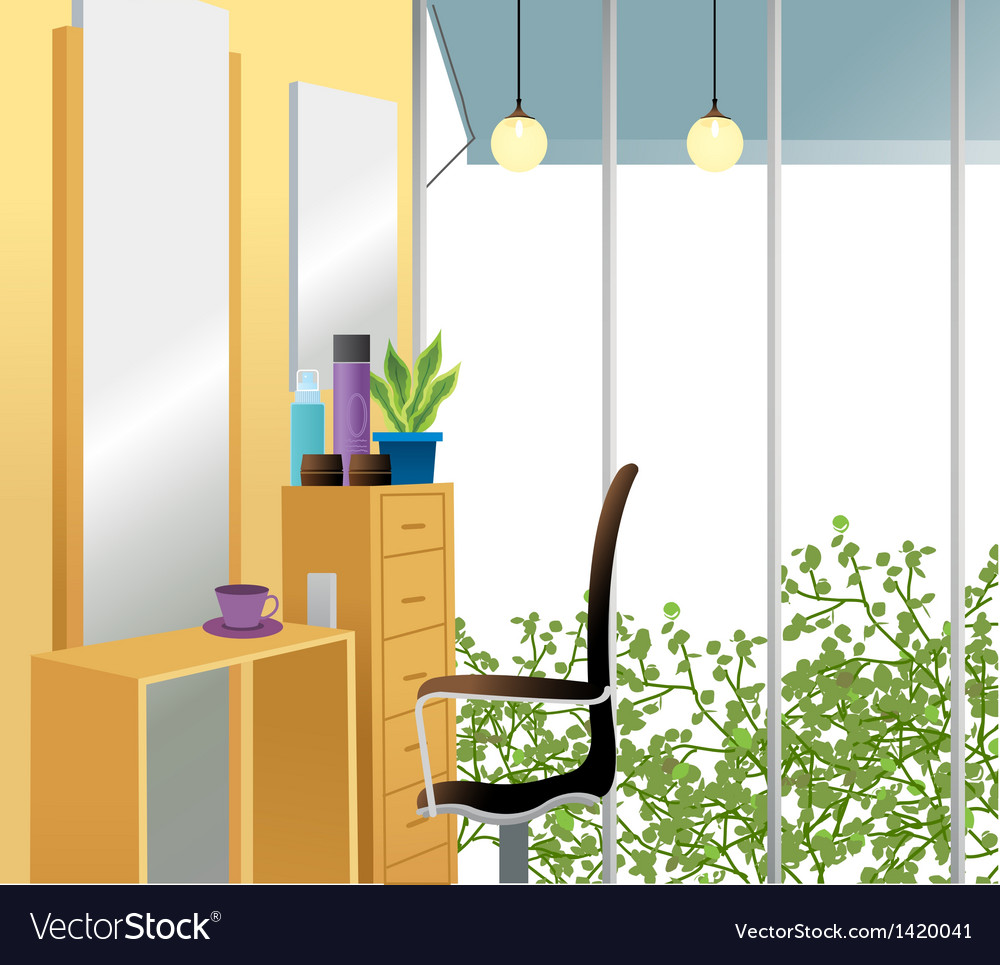 Beauty salon background vector | Price: 1 Credit (USD $1)
