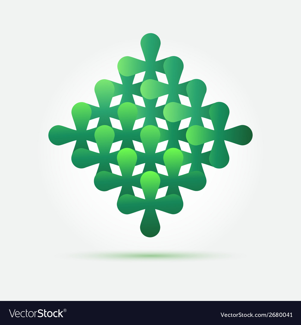 Bright green creative technology icon - abstract vector | Price: 1 Credit (USD $1)