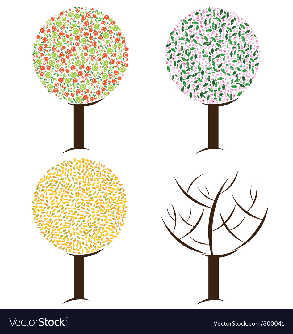 Season tree vector | Price: 1 Credit (USD $1)