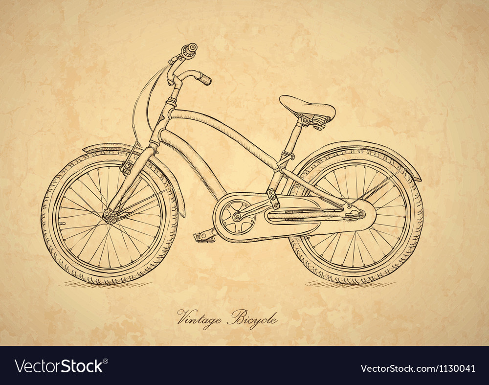 Vintage bicycle background vector | Price: 1 Credit (USD $1)