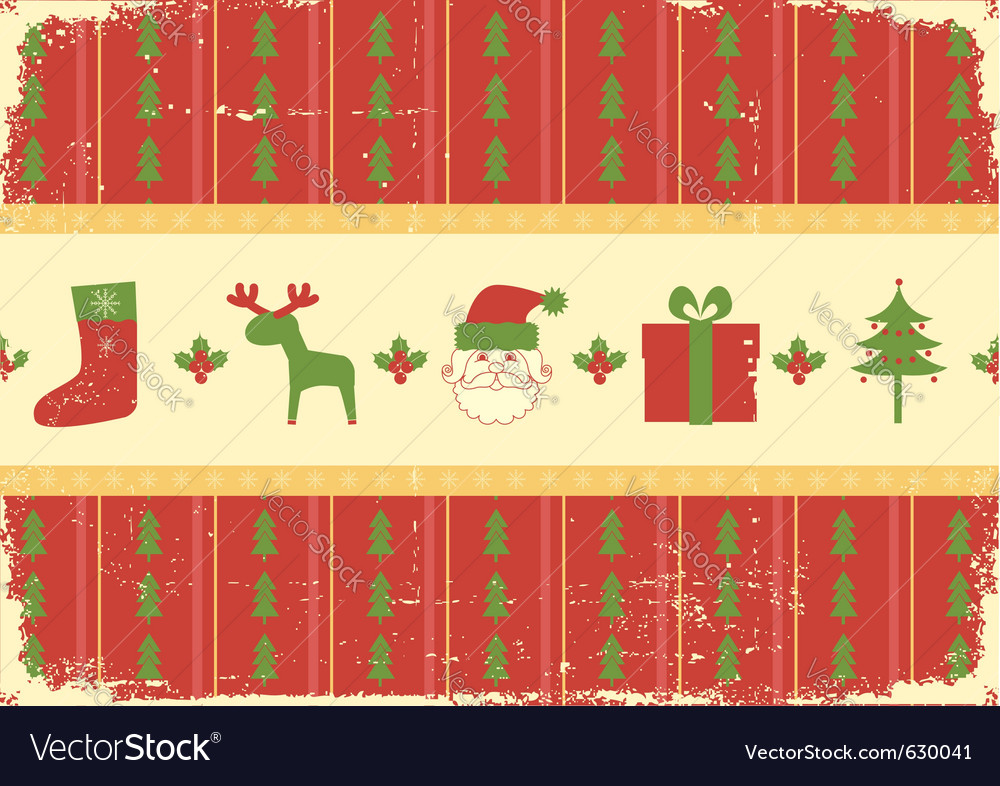 Vintage christmas vector | Price: 1 Credit (USD $1)