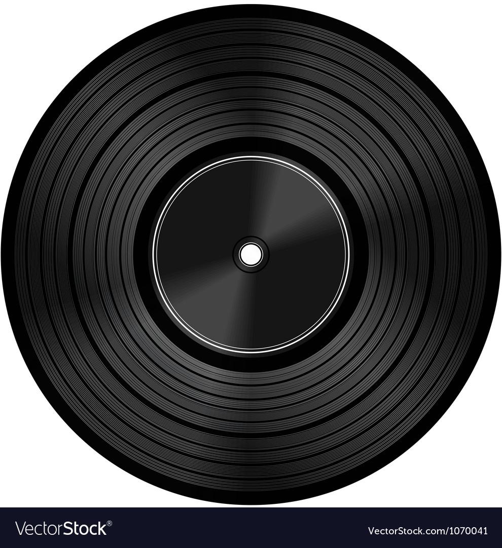 Vinyl audio disc vector | Price: 1 Credit (USD $1)