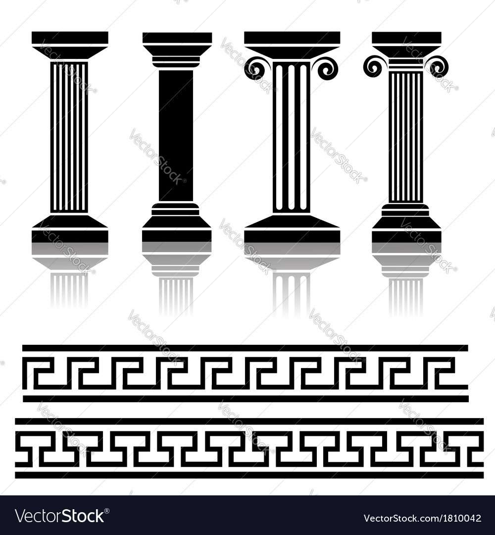 Ancient columns vector | Price: 1 Credit (USD $1)