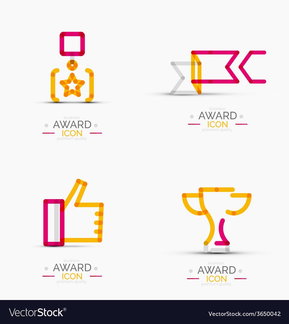 Award icon set logo collection vector | Price: 1 Credit (USD $1)