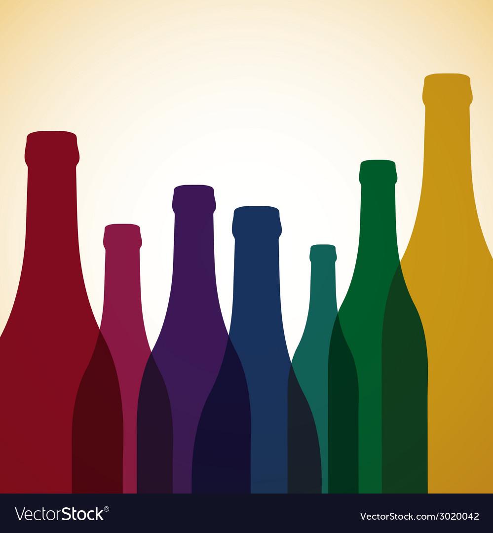 Bright wine list menu cover in format vector | Price: 1 Credit (USD $1)